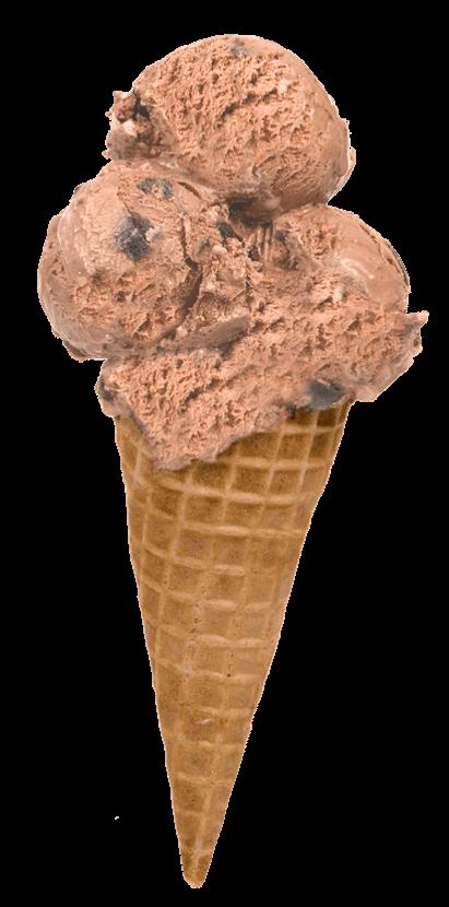 Farmhouse ice cream cone chocolate